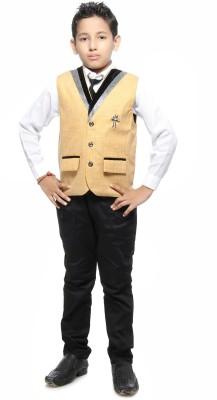 Kids On Board Boy's Shirt, Waistcoat and Pant Set