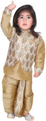Munna Munni Kids Apparel Boy's Kurta, Waistcoat and Dhoti Pant Set