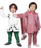 Tiny Toon Boys Kurta, Waistcoat and Bree...