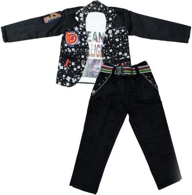 MONICA GIFT Baby Boy's Shirt, Waistcoat and Pant Set
