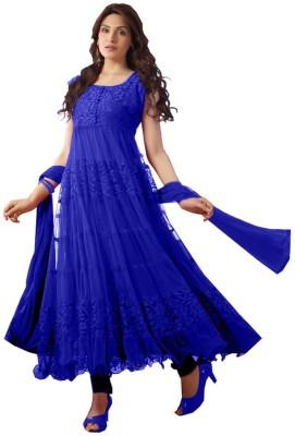 WCS Brasso Self Design Semi-stitched Salwar Suit Dupatta Material