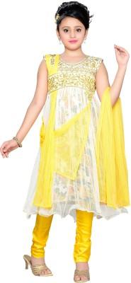Aarika Girl's Kurta and Churidar Set