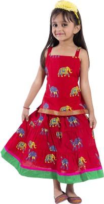 MAGNUS Animal Print Girl's Lehenga Choli