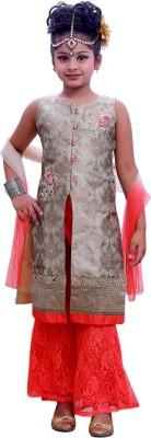Ishika Garments Girl's Kurta and Pallazo Set