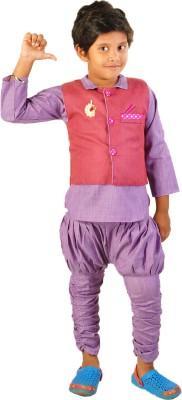 Chuddy Buddy Boy's Kurta, Waistcoat and Breeches Set