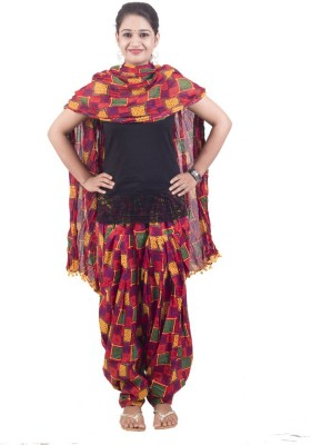 Manasvi Innovation Women's Patiala and Dupatta Set