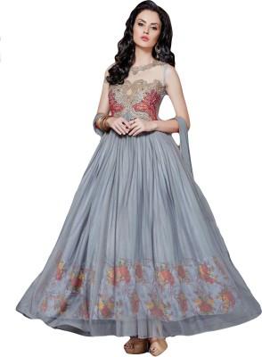 Sitaram Georgette, Net Embellished, Embroidered, Floral Print Semi-stitched Salwar Suit Dupatta Material