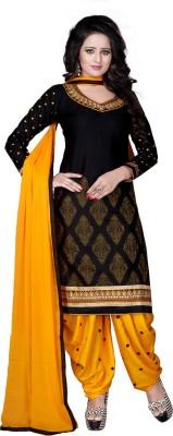 Merito Cotton Embroidered Semi-stitched Salwar Suit Dupatta Material, Semi-stitched Salwar Suit Material, Salwar Suit Material, Kurta & Patiyala Material