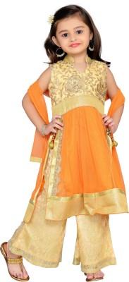 Adiva Girl's Kurta and Pallazo Set