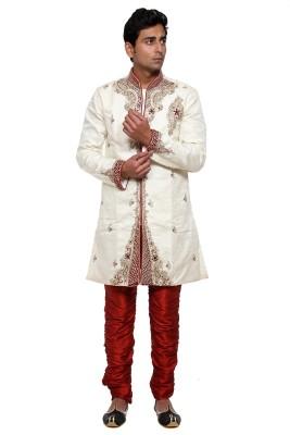 Ethiic Men's Sherwani and Churidar Set