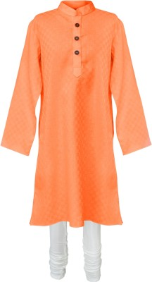 PSPEACHES Boy's Kurta and Churidar Set