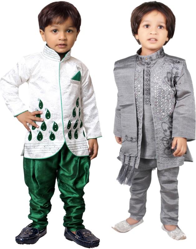 Tiny Toon Boys Kurta, Waistcoat and Breeches Set