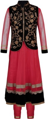 Jazzup Girl's Kurta and Churidar Set