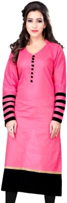 Sai Fabrics Casual Self Design, Solid Women,s Kurti