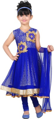 JBN Creation Girl's Kurti, Legging and Dupatta Set