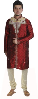 JBN Creation Men's Sherwani and Churidar Set