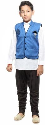 Kids On Board Boy's Kurta, Waistcoat and Pyjama Set