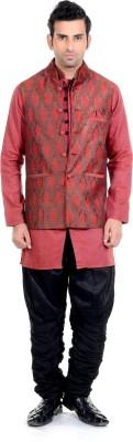 New Looks Men's Kurta, Waistcoat and Pyjama Set