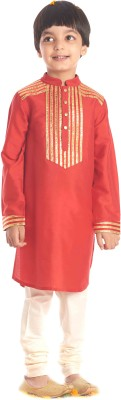 KIDOLOGY Boy's Kurta and Churidar Set