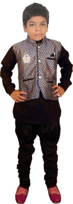 JBN Creation Baby Boy's Kurta, Waistcoat and Pyjama Set