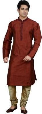 Manish Creations Men's Kurta and Churidar Set