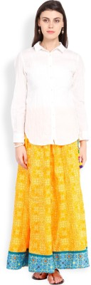 Vishudh Women's Top and Skirt Set
