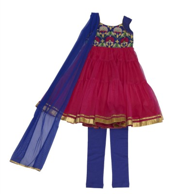 Twisha Baby Girl's Kurti, Legging and Dupatta Set