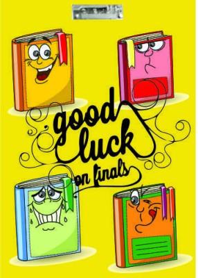 Printland Exam Board Yellow Good Luck Examination Pads