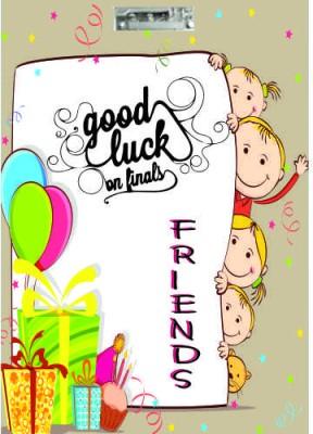 Printland Exam Board Friends Good Luck Examination Pads
