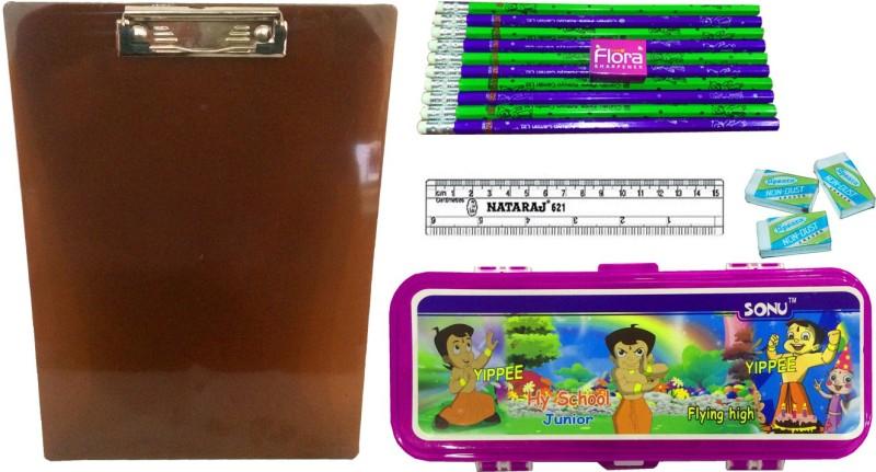 Gayatri Creations BEST OF LUCK SERIES PURPLE-03 Examination Pads(Set of 5, Purple, Brown, Multicolor)