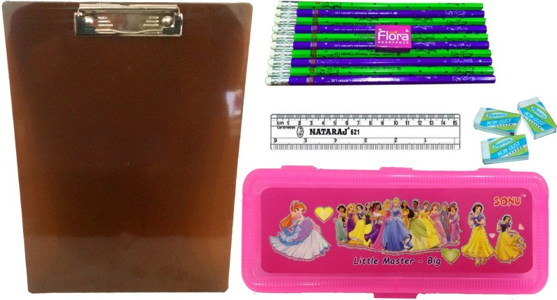 Gayatri Creations BEST OF LUCK SERIES PENCIL BOX COMBO PINK Examination Pads(Set of 5, Brown, Pink, Multicolor)