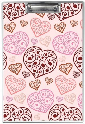 SKIN4GADGETS NA Skin4Gadgets Heart vector background Designer Writing Pad Examination Pads(Set of 1, Muliticolor)