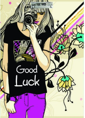 Printland Exam Board Good Luck Girl Examination Pads