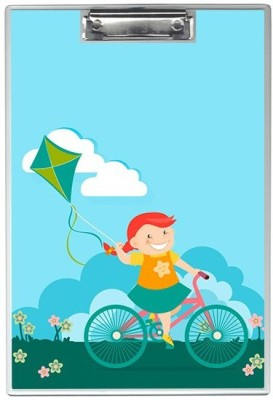 SKIN4GADGETS NA Skin4Gadgets Girl on bicycle with a kite Designer Writing Pad Examination Pads(Set of 1, Muliticolor)