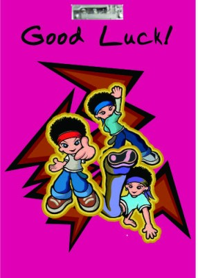 Printland Exam Board Cartoon Good Luck Examination Pads