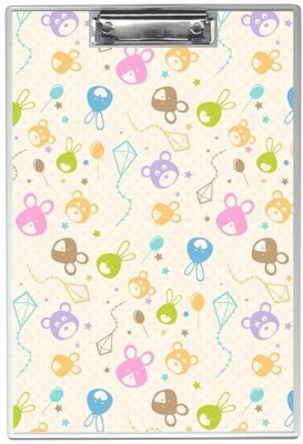 SKIN4GADGETS NA Skin4Gadgets Hand drawn rabbits and bears pattern Designer Writing Pad Examination Pads(Set of 1, Muliticolor)