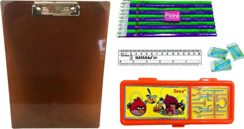 Gayatri Creations BEST OF LUCK SERIES 5-ORANGE01 Examination Pads(Set of 5, Multicolor)