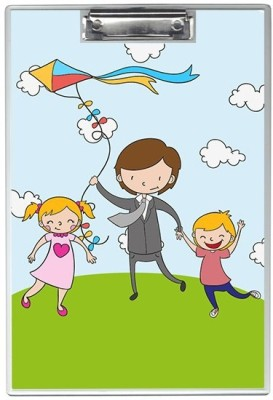 SKIN4GADGETS NA Skin4Gadgets Happy family with kite Designer Writing Pad Examination Pads(Set of 1, Muliticolor)
