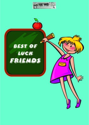 Printland Board Best Of Luck Friends Examination Pads