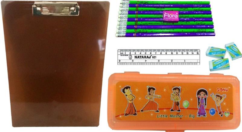 Gayatri Creations BEST OF LUCK SERIES ORANGE-02 Examination Pads(Set of 5, Brown, Orange, Multicolor)