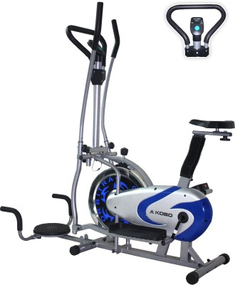 KOBO Multi Orbitrac Elliptical Steel Wheel with Twister Upright Exercise Bike