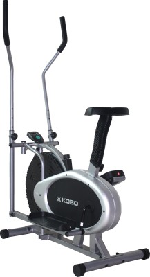 Kobo Multi Orbitrac Elliptical Dual Action Upright Stationary Exercise Bike(Black)