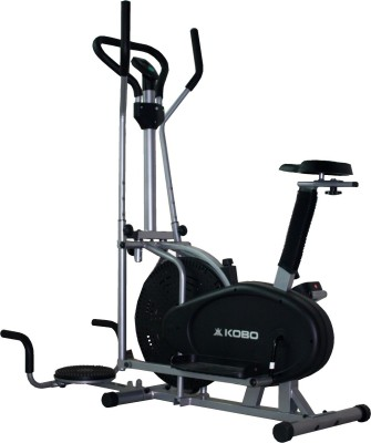 Kobo Multi Orbitrac Elliptical with Twister Upright Stationary Exercise Bike(Black)