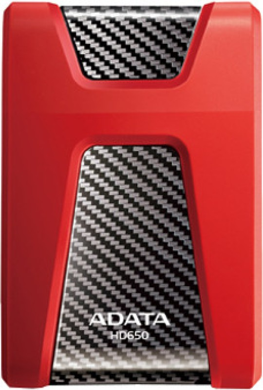 ADATA DashDrive Durable 1 TB External Hard Disk Drive(Red)