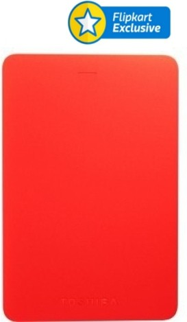 View Toshiba Canvio Alumy 2 TB Wired External Hard Disk Drive(Red) Price Online(Toshiba)