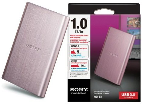 Sony 1 TB Wired External Hard Disk Drive(Pink)