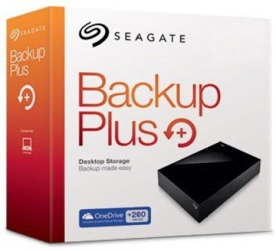 Seagate 6 TB Wired External Hard Disk Drive with 200 GB Cloud Storage