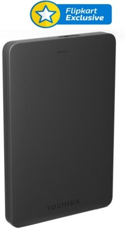 View Toshiba Canvio Alumy 2 TB Wired External Hard Disk Drive(Black) Price Online(Toshiba)