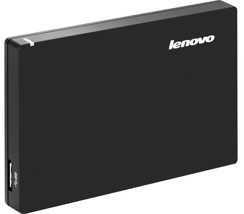 Lenovo Slim 1 TB Wired External Hard Disk Drive(Black)