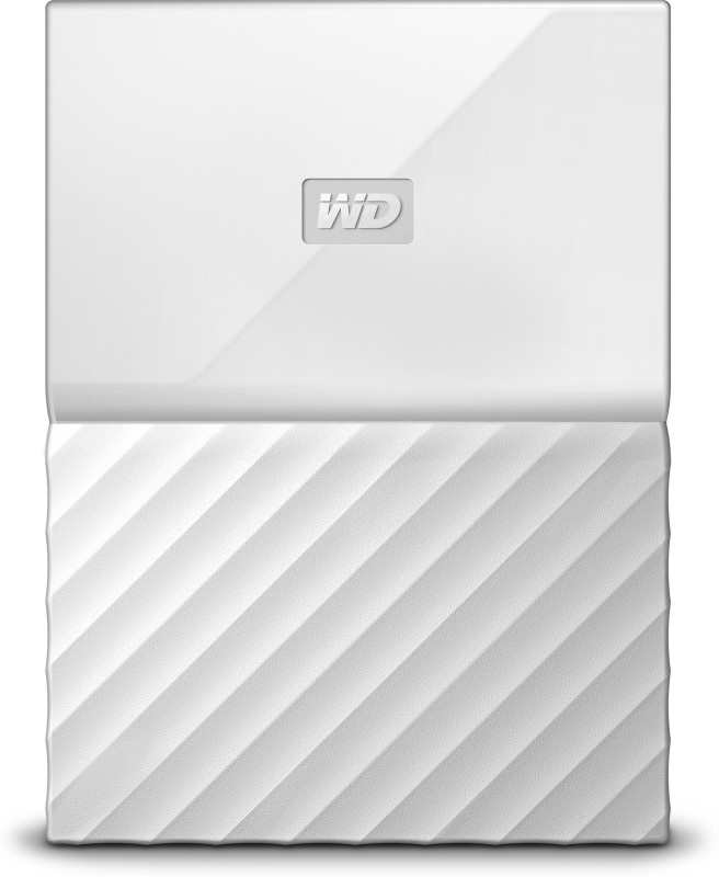 WD My Passport 1 TB Wired External Hard Disk Drive(White)